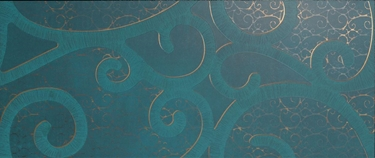 Imagine IMPRONTA- CRETA D WALL AQUA BOUCLE ORO DEC. 30,5X72,5