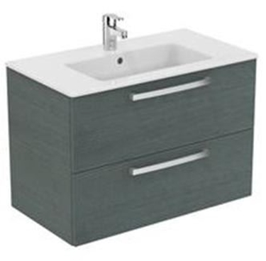 Imagine IDEAL STANDARD _ MOBILIER SUSPENDAT 80 CM, SANDY GREY OAK - TEMPO