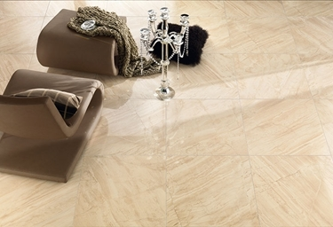 Imagine Gresie portelanata Absolute Travertino Beige ,placa rectificata 250X590